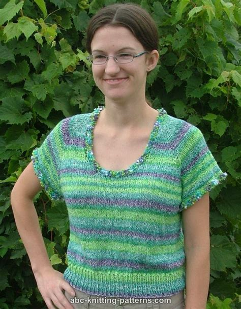 free knitting patterns for summer tops abc knitting patterns one skein summer top top