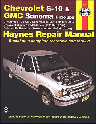 small engine repair training 1994 gmc sonoma free book repair manuals chevy s10 sonoma blazer jimmy bravada repair manual 1994 2004