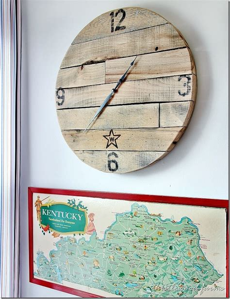 clock craft project trash to treasure how to make a pallet wood clock