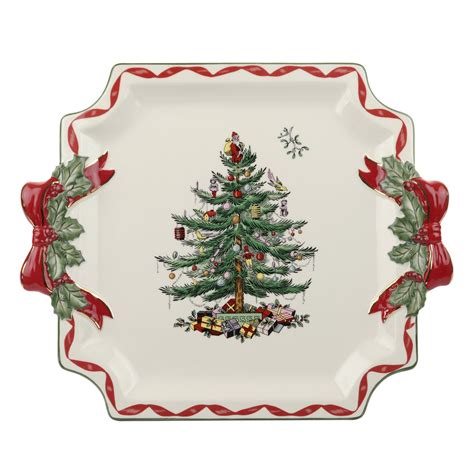 spode tree plate spode tree ribbons collection square plate