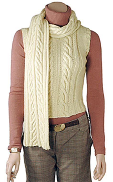aran vest knitting pattern aran scarf vest