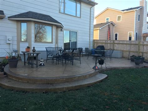 backyard concrete patio designs patio designs pool remodeling wichita sted concrete