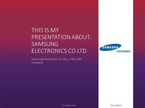 samsung powerpoint template presentationgo com
