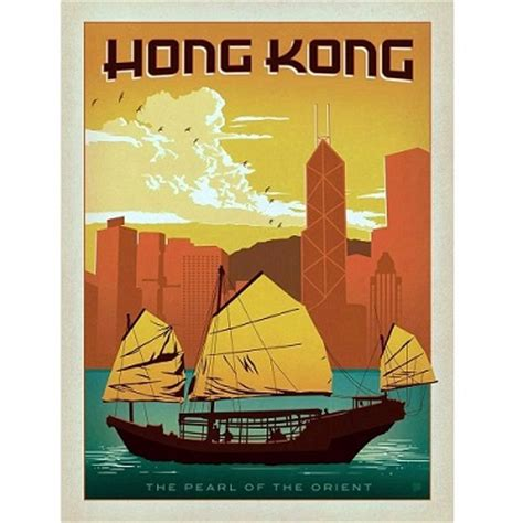 Hong Kong Artwork by Travel Posters City Posters Vacation Posters For Sale