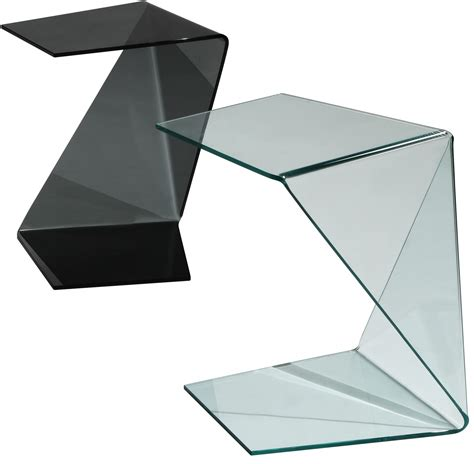origami products origami end table in black glass origami black side table