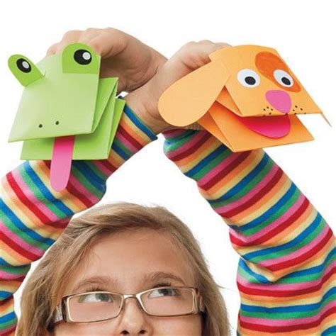 how to make paper craft at home paper puppets paper crafts origami easy paper