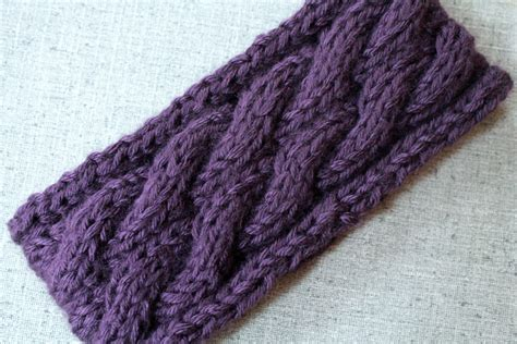 how to knit a headband for beginners step by step cable ear warmer headband knitting pattern purlsandpixels