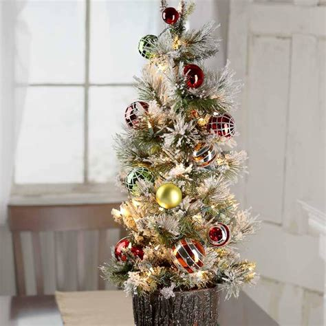 pre decorated artificial trees decorated pre lit tabletop artificial tree