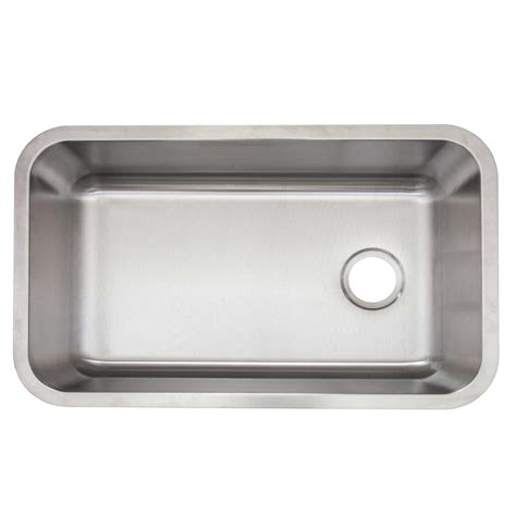 glacier bay stainless steel kitchen sink glacier bay undermount stainless steel 30 in single basin