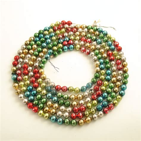 bead garland vintage glass bead garland