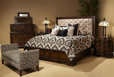 michael amini cera bedroom set with fabric tufted