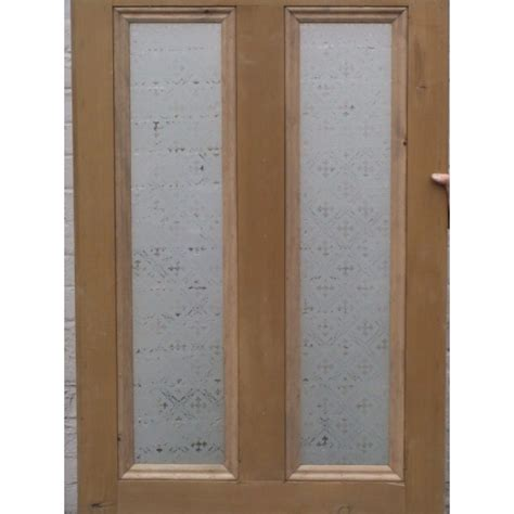 4 panel etched glass door with druid or