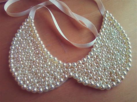 beaded collars pearl beaded wedding collar necklace onewed
