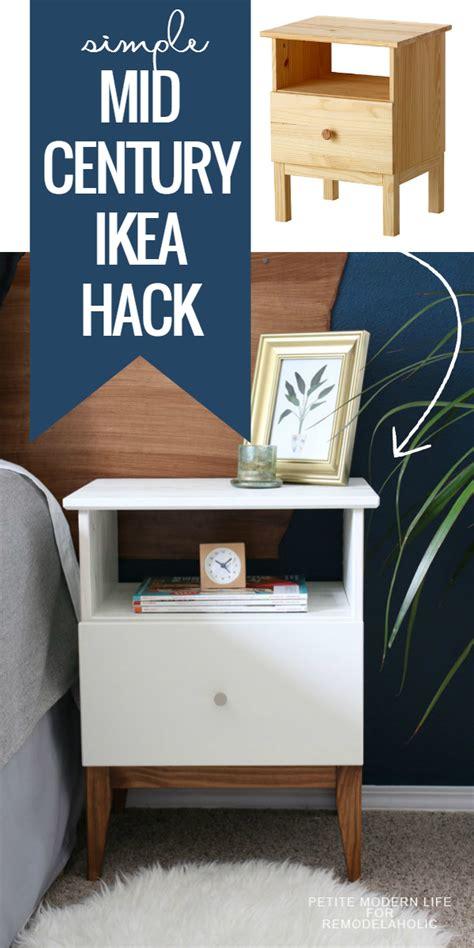 hack ikea remodelaholic easy mid century ikea tarva nightstand hack