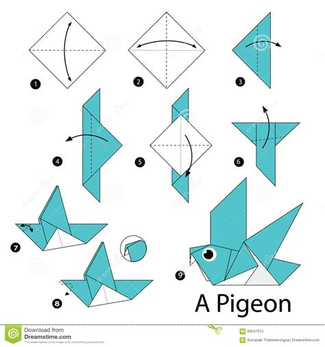 origami animals step by step step by step how to make origami a bird