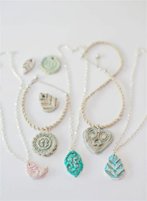 clay to make jewelry hello wonderful make clay pendant necklaces