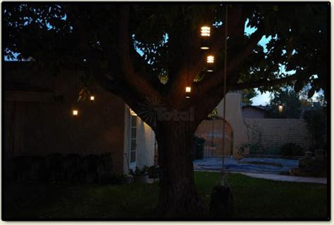hanging tree lights landscape lighting outdoor low voltage flower hanging tree
