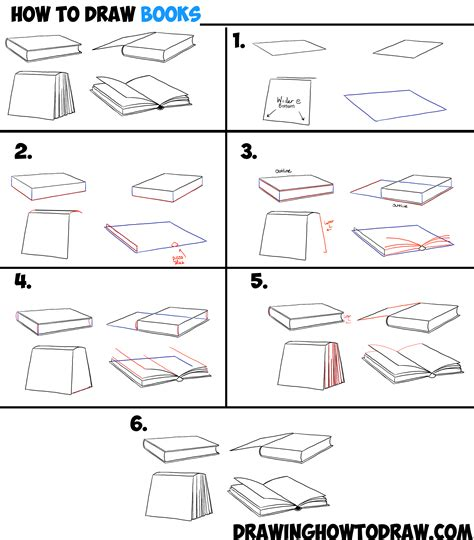 how to draw book how to draw books in 4 different angles perspectives