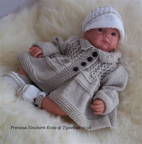 Baby Knitting Pattern Boys Or Reborn To Knit Jacket