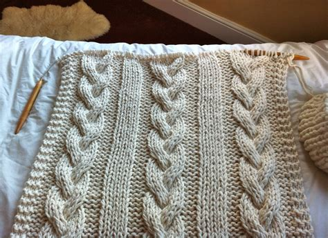 knitting blanket cable knit blanket or throw