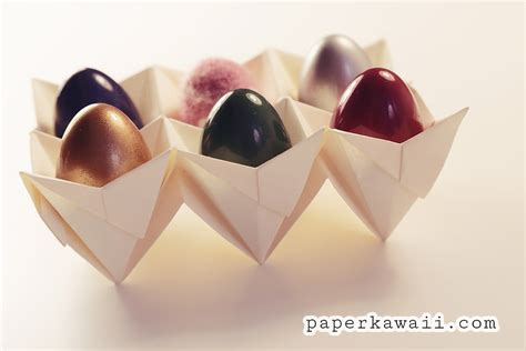 origami gift basket origami egg box tutorial easter paper kawaii