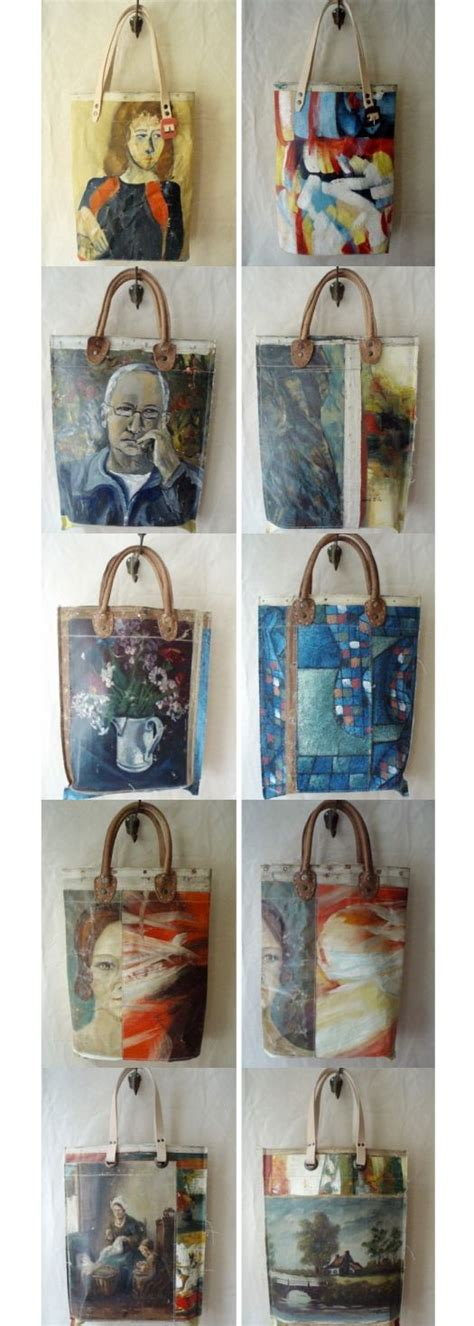 25 best ideas about painted canvas bags on