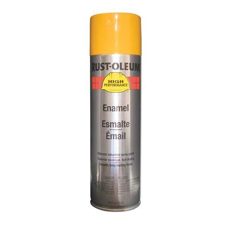 spray paint yellow shop rust oleum high performance caterpillar yellow enamel