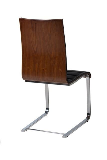 black faux leather dining room chairs walnut and black faux leather dining chairs homegenies
