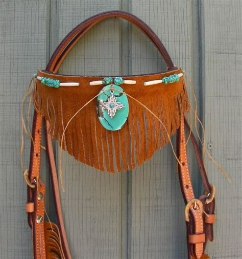 beaded tack sets buy a handmade handcut fringe turquoise hairpipe beaded