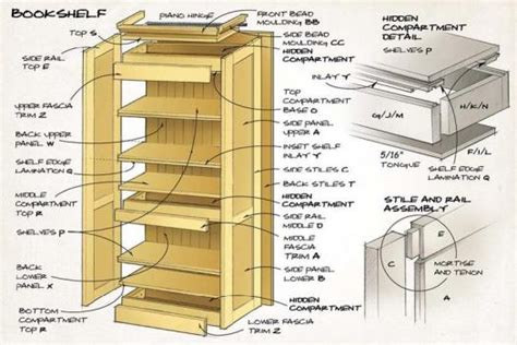 self assembly bookshelves bookshelf illustration1