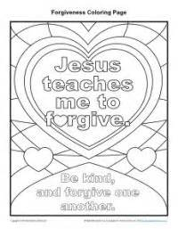 forgiveness bible crafts jesus teaches me to forgive coloring page lord jesus
