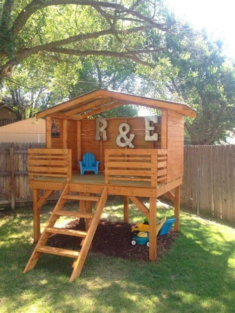 Great House Designs 16 creative kids wooden playhouses designs for your yard