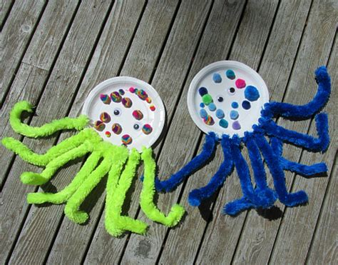 octopus crafts for paper plate pom pom octopus craft no time for flash cards