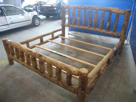 log frame beds best 10 log bed frame ideas on log bed