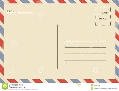 7 best images of vintage blank postcard template vintage