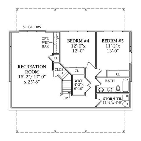 basement floor plan lakeview 2804 3 bedrooms and 2 baths the house designers