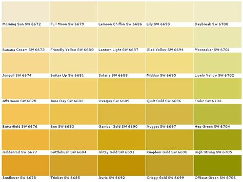 behr exterior paint color wheel sherwin williams sw6672 morning sun sw6673 banana