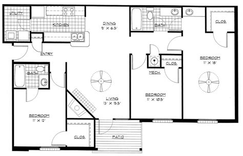 3 floor house plans house plans for pretentious bedroom home one also 3 open