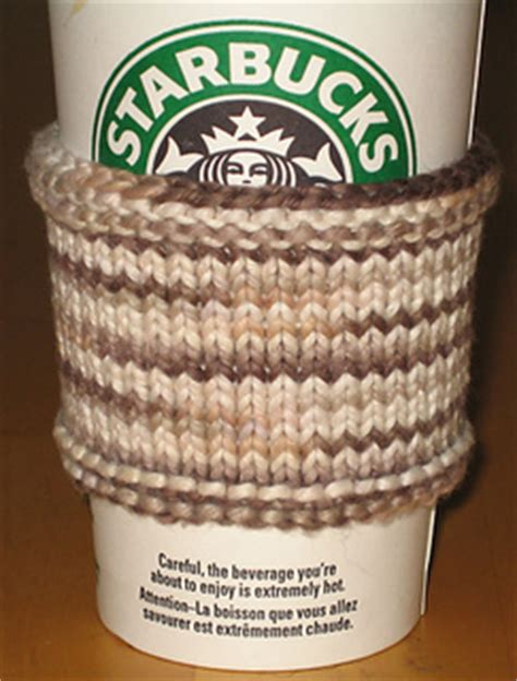 free knitting pattern coffee cup sleeve ravelry organic cotton coffee sleeve pattern by momsbudget