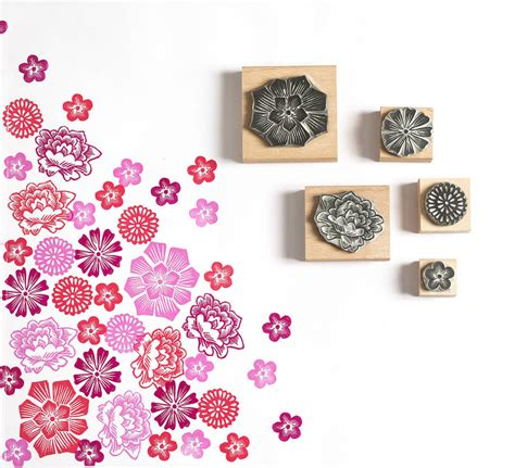 floral rubber st mexican flower rubber sts by noolibird rubber sts