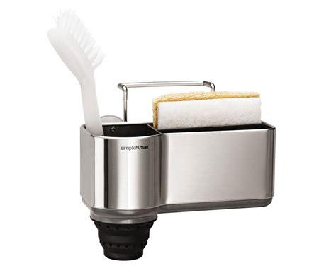 kitchen sink caddies simplehuman brushed steel sink caddy