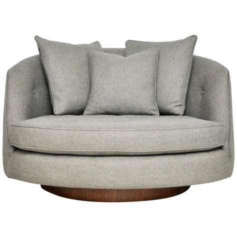 large swivel chairs milo baughman large swivel chair at 1stdibs