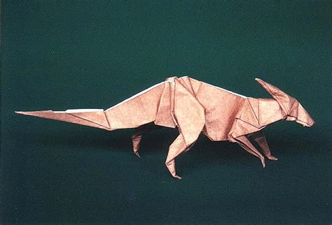 origami parasaurolophus parasaurolophus