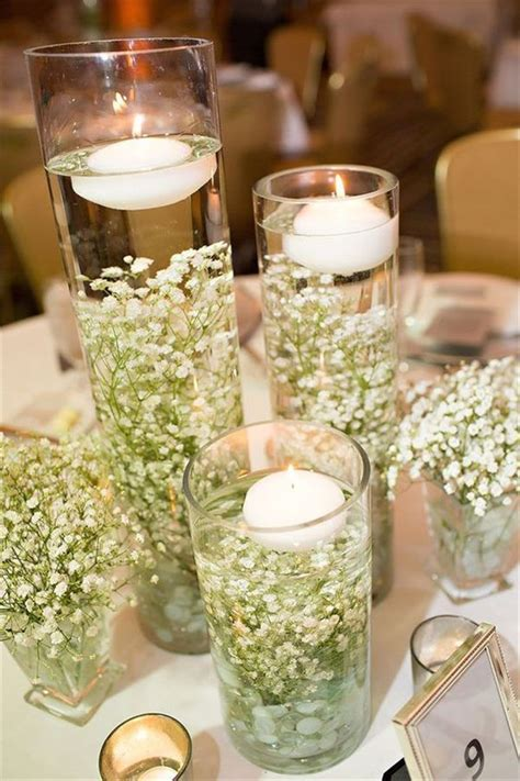 diy wedding centerpieces candles best 25 simple wedding decorations ideas on