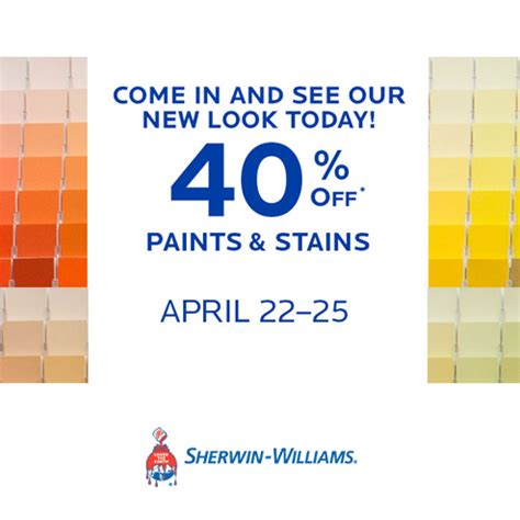 sherwin williams store coupons sherwin williams 40 paints and stains