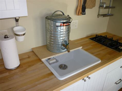 no water in kitchen sink kitchen with temporary plumbing tin can cabin