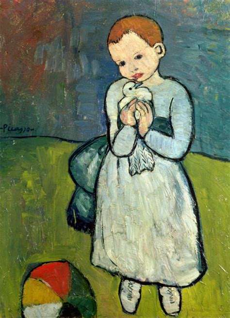 picasso paintings when he was a child picasso painting child with a dove barred from export