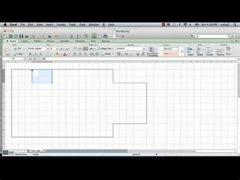 how to do floor plan how to make a floorplan in excel microsoft excel tips