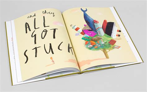 picture book stuck by oliver jeffers picture book typography and