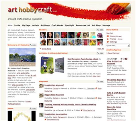 arts and crafts websites for arts and crafts website design makeover website designs